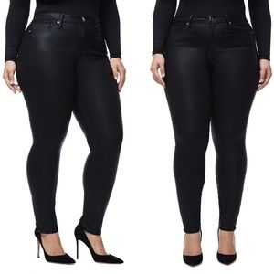 Good American Good Legs Waxed Skinny Jeans NWOT